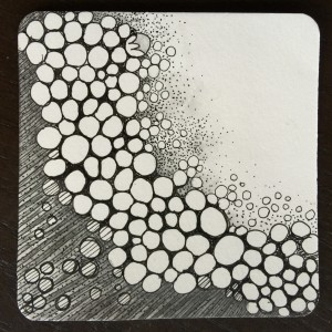 Tipple in the summertime takes on a decidedly beachy feel. This was shaded with stippling, and water soluble graphite.